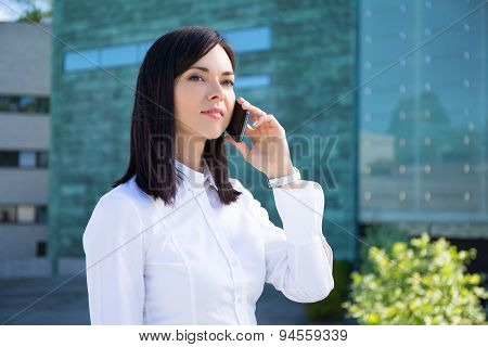 Young Business Woman Talking On Smartphone