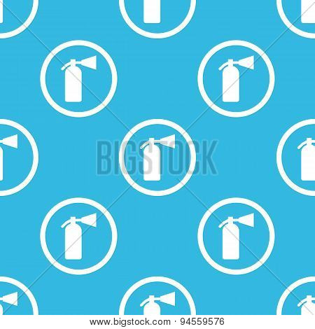 Fire extinguisher sign blue pattern