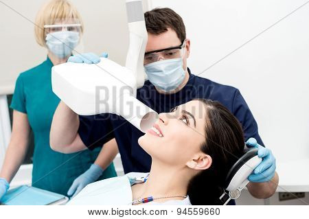 Doctor Examined By Dental X-ray