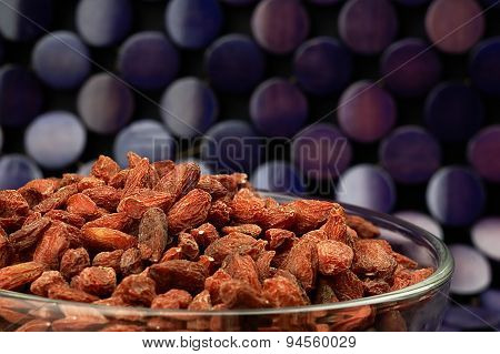 Dried Goji Berries On The Table.