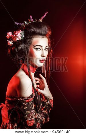 Attractive Geisha.