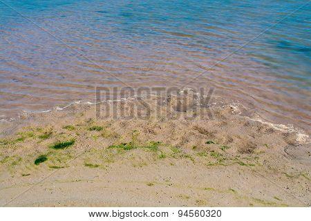 Sand Beach Of Mae Khong River