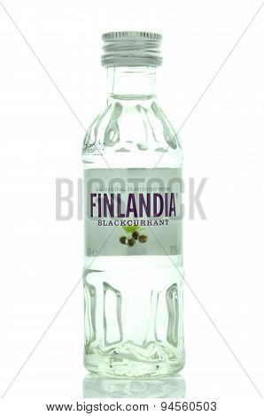 Finlandia natural flavoured vodka isolated on white background