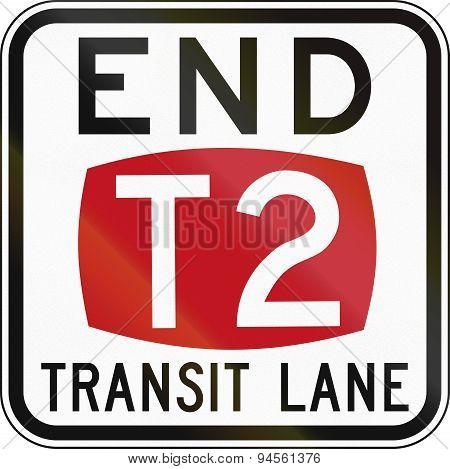 End T2 Transit Lane In Australia