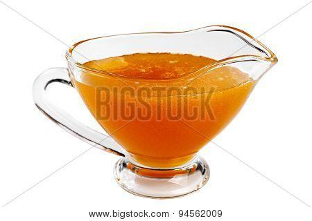 Eating Utensil With Honey Isolated.