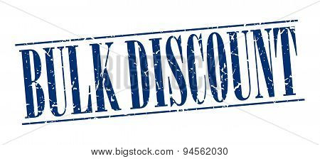 Bulk Discount Blue Grunge Vintage Stamp Isolated On White Background