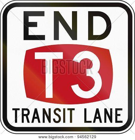 End T3 Transit Lane In Australia