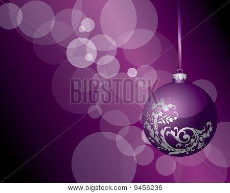 Blank Violet Floral Bubble