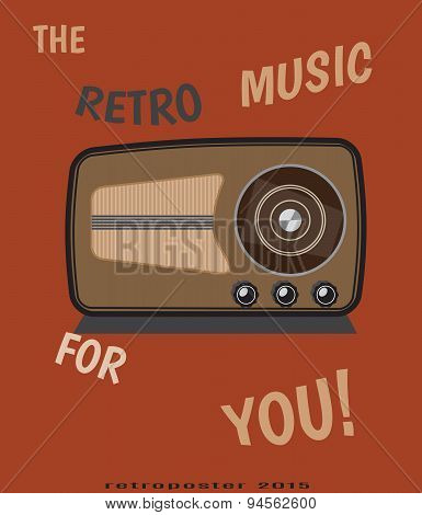 vector retro radio  for vintage poster