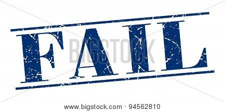 Fail Blue Grunge Vintage Stamp Isolated On White Background