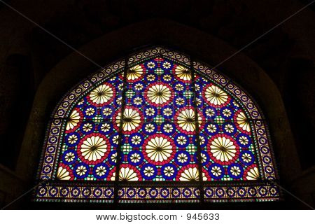 Stained-Glass Window In Iran