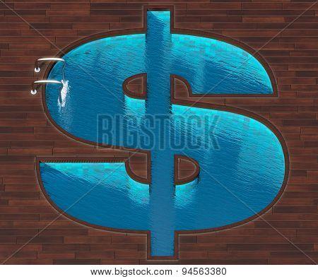 Shaped Pool Dollar Plan
