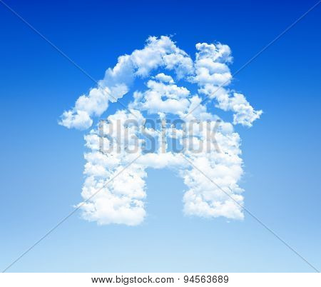 House Icon Cloud Sky