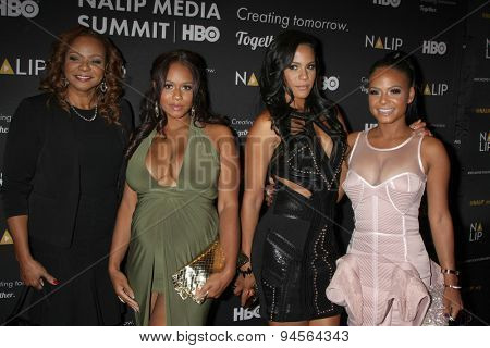 LOS ANGELES - JUN 27:  Carmen Milian, Danielle Milian, Liz Milian, Christina Milian at the NALIP 16th Annual Latino Media Awards at the W Hollywood on June 27, 2015 in Los Angeles, CA