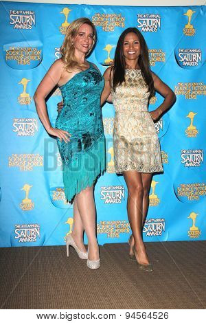 LOS ANGELES - JUN 25:  Chase Masterson, Salli Richardson-Whitfield at the 41st Annual Saturn Awards Press Room at the The Castaways on June 25, 2015 in Burbank, CA