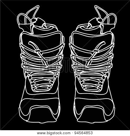 Snowboard boot front.