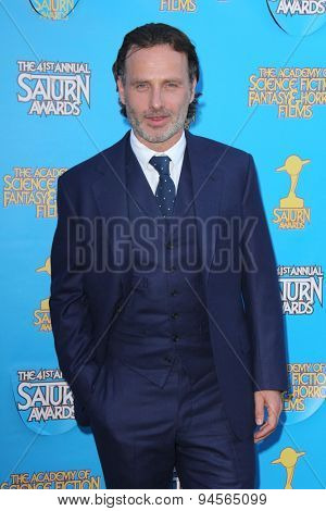 LOS ANGELES - JUN 25:  Andrew Lincoln at the 41st Annual Saturn Awards Arrivals at the The Castaways on June 25, 2015 in Burbank, CA