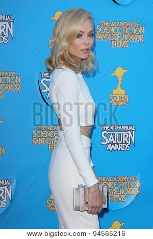 LOS ANGELES - JUN 25:  Laura Vandervoort at the 41st Annual Saturn Awards Arrivals at the The Castaways on June 25, 2015 in Burbank, CA