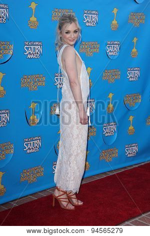 LOS ANGELES - JUN 25:  Emily Kinney at the 41st Annual Saturn Awards Arrivals at the The Castaways on June 25, 2015 in Burbank, CA