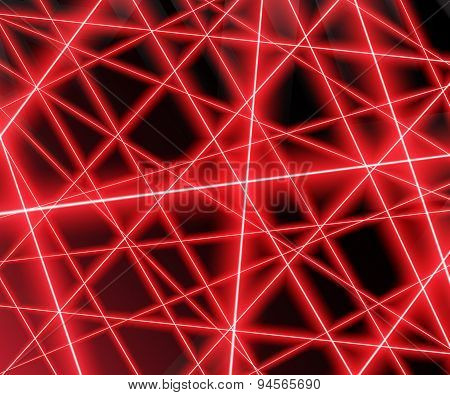 Red laser beams on a black background,eps 10.