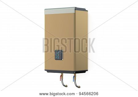 Golden Electric Water Heater Side View
