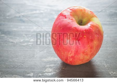 Red Apple On The Table