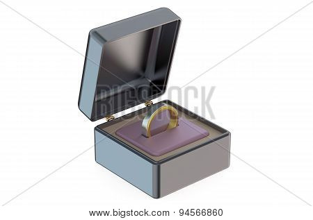 Men's Wedding Ring In Jewelry Box
