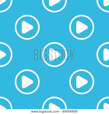 Play sign blue pattern