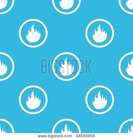Fire sign blue pattern