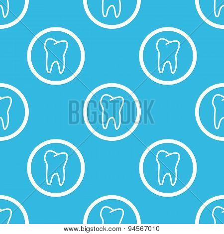 Tooth sign blue pattern