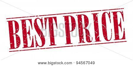 Best Price Red Grunge Vintage Stamp Isolated On White Background