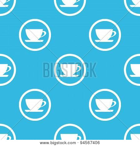 Cup sign blue pattern