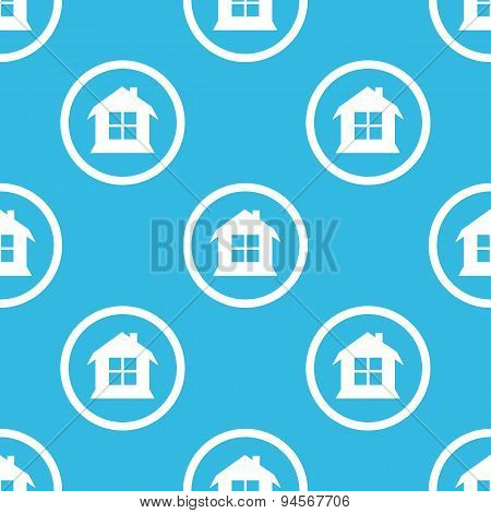 House sign blue pattern