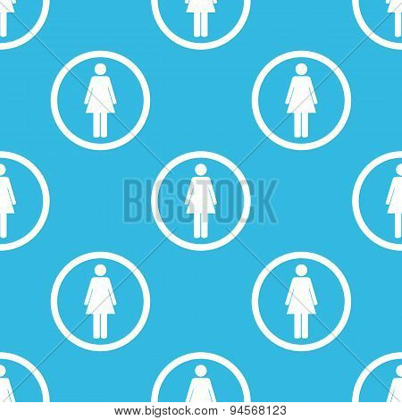 Woman sign blue pattern
