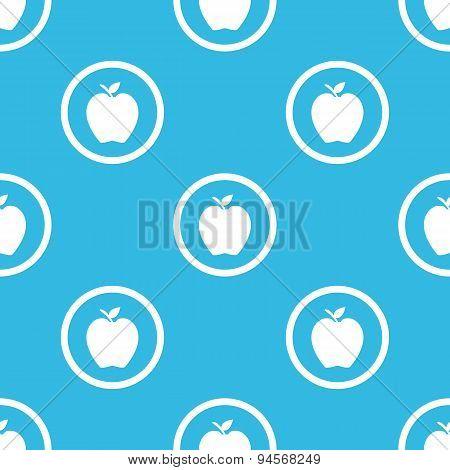 Apple sign blue pattern