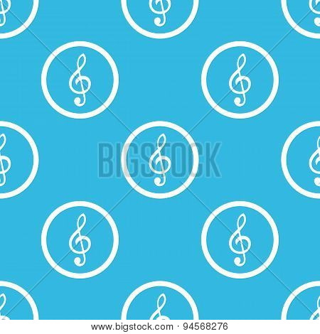 Music sign blue pattern