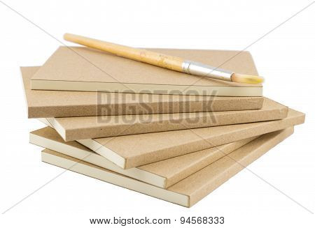 Blank Books For Writing And Drawing With Paint Brush
