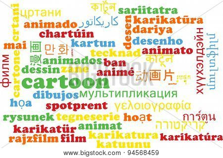 Background concept wordcloud multilanguage international many language illustration of cartoon
