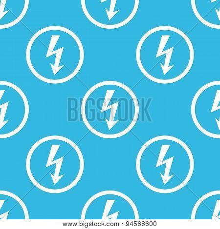 Voltage sign blue pattern
