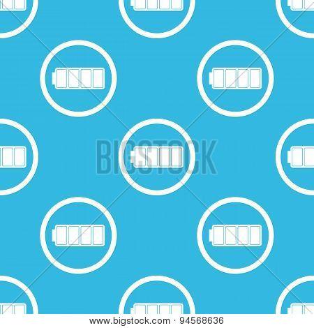Full battery sign blue pattern