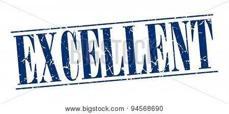 Excellent Blue Grunge Vintage Stamp Isolated On White Background
