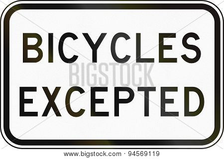 Bicycles Excepted In Australia