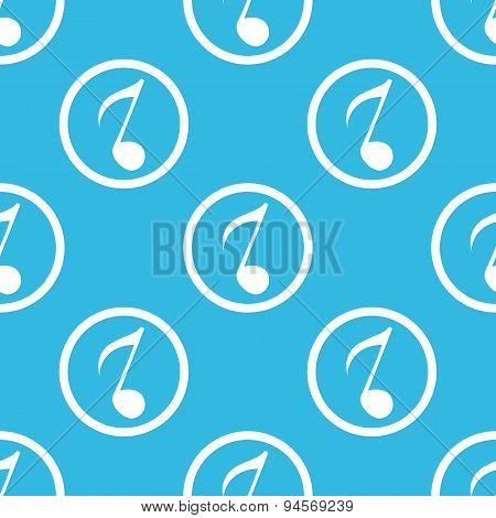 8th note sign blue pattern