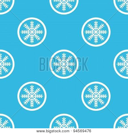 Winter sign blue pattern