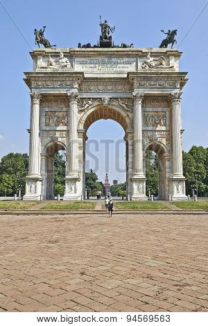 Parco Sempione And The Arch Of Peace