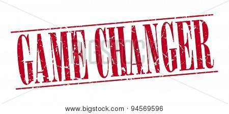 Game Changer Red Grunge Vintage Stamp Isolated On White Background
