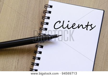 Clients Concept Notepad
