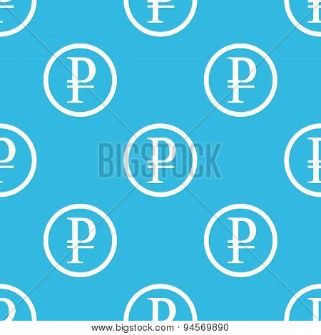 Ruble sign blue pattern