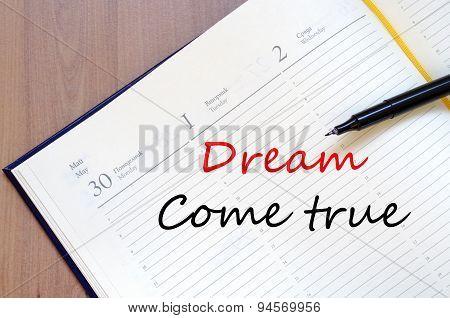 Dream Come True Concept Notepad