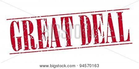 Great Deal Red Grunge Vintage Stamp Isolated On White Background